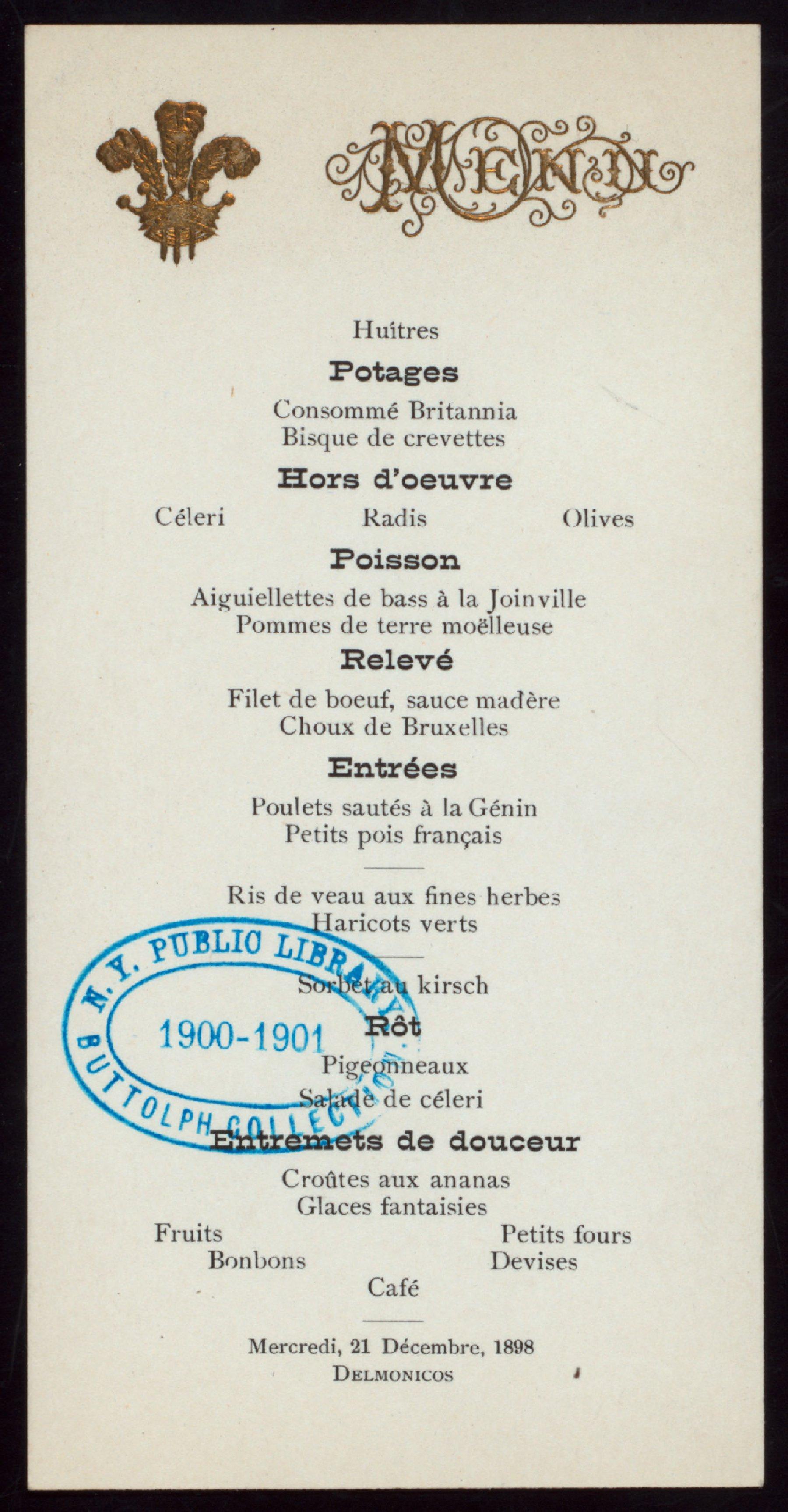 Britannia Cafe Menu