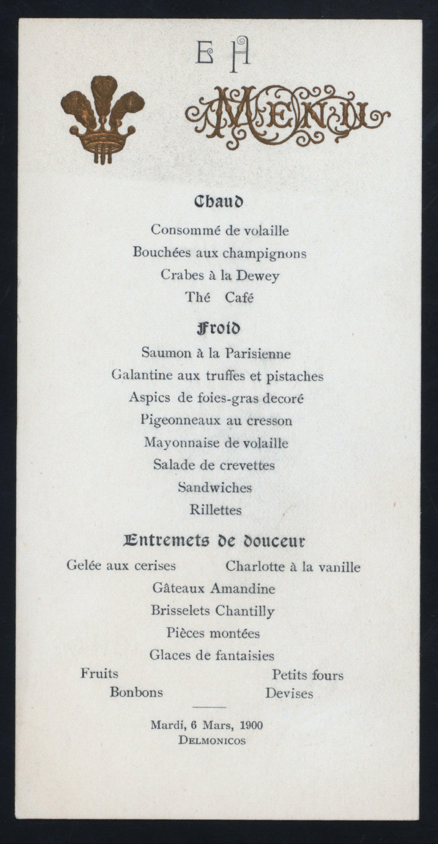 Frances eckman arthur herzog menus whats on the menu for Menu tipico frances